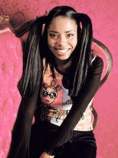 Shar Jackson as Niecy Jackson from tv's Moesha 2000s Hairstyles, Black Girls Hairstyles, Shar Jackson, Black 90s Fashion, 00s Fashion, Curly Hair Styles, Natural Hair Styles, Black Girl Aesthetic, Beautiful Black Women
