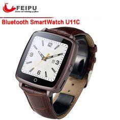 Lederband Bluetooth SmartWatch U11C Smart Watch Phone Unterstützung SIM Karte, Video-wiedergabe für IPhone/Samsung/Xiaomi Pk U8 GT08 DZ09 //Price: $US $35.99 & FREE Shipping //     #clknetwork