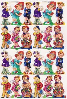 TODORECORTABLES SUEÑOS DE PAPEL: CROMOS DE PICAR Vintage Baby Pictures, Vintage Images, Cute Pictures, Retro Toys, Vintage Toys, Retro Vintage, Nostalgia, Beautiful Paintings, Vintage Cards