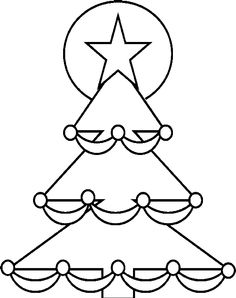 Christmas Tree With A Star Shining Coloring Pages - Christmas Coloring Pages : KidsDrawing – Free Coloring Pages Online