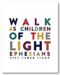 Ephesians 5:8