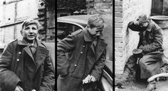 This combination of three photographs shows the reaction of a 16-year old German soldier after he was captured by U.S. forces, at an unknown location in Germany, in 1945. (AP Photo)