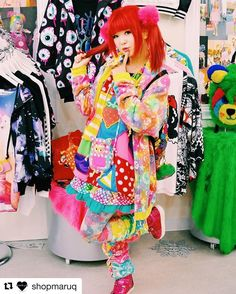 Went to @shopmaruq for the first time✨❤️ Thank you for taking picture✨(●´ω`●) ・ ・ ・ #shopmaruq #japantown #sanfrancisco #harajuku #harajukufashion #popkei #kawaii #jfashion#colorful #outfit
