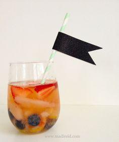 summer pear-berry sangria
