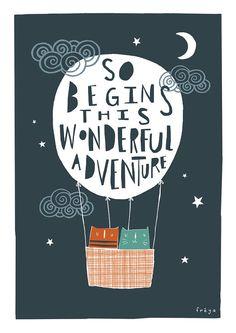 This Wonderful Adventure Greeting Card 2-56C por FreyaArt en Etsy