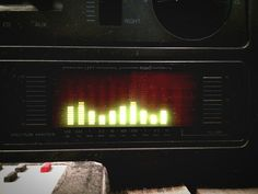 Close-Up Of Music Equalizer
