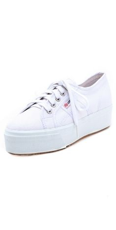 not sure how i feel about these yet (love or hate) Platform Sneakers, Cowgirl Boots, Superga, Coach Purses, High Heels, Lace Up, Footwear, Wedges, Outfits