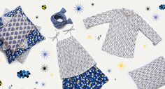 Le Petit Lucas du Tertre summer 2013, Japanese influenced pattern for children's fashion