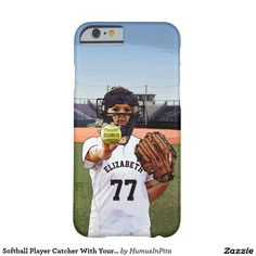 Softball Player Catcher With Your Name And Number Barely There iPhone 6 Case