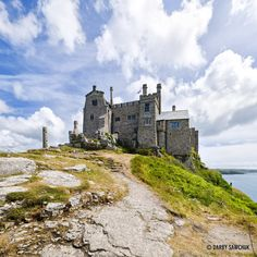 The castle on top of St. Michael's Mount in Cornwall. UK