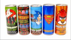 Ghotsbusters, PAC MAN, Sonic, Superman & Angry Birds Special Drinks Coll...