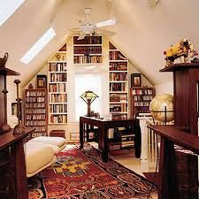 BUILT-IN BOOKCASES & SHELVING - Again,if you have lots of these awkward walls, make one of them a standout by filling with your favourite things as well as drawing attention to the unique architecture of the space?