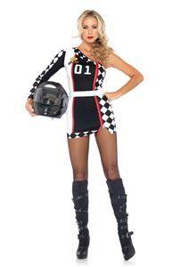 Racer Girl 1st Place Adult Womens Costume - 316533 | trendyhalloween.com #racergirl #speedracer #halloween #halloweencostume