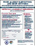 Food Allergy Babysitting and Drop-Off Form you can download, print and share!