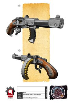 Steampunk repeating pistol