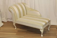 Chaise-Longue-Chair-In-a-Beautiful-Gold-Stripe