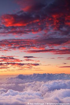 ✯ Sunset from near the top of Haleakala, Haleakala National Park, Maui, Hawaii