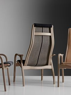 Lamino by Nudie Jeans – easy chair by Yngve Ekström When redesigned by the jeans brand, Lamino is made of untreated beech (neither varnished, nor oiled, but raw). The seat comes in three versions: in vegetable tanned saddle leather and in 100% organic selvage denim – either dry or with handmade wash treatments. The first 100 easy chairs of each version are numbered, and a donation is made to Amnesty International for each sold easy chair.