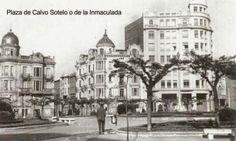 León, fotos antiguas, plaza de la Inmaculada