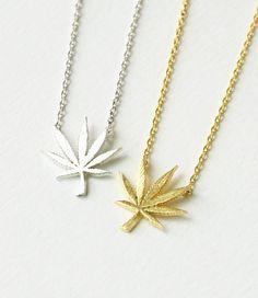 Mary Jane Leaf Necklace