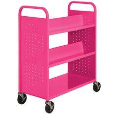 Sandusky Lee SVF336 Mobile Book Truck Storage Cart