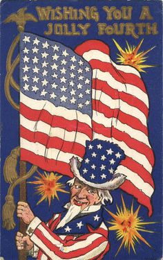 Wall Uncle Sam, Wishing you a Jolly 4th of July Patriotic