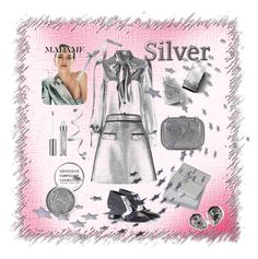"""Madame Silver"" by boutiquebrowser ❤ liked on Polyvore featuring Yves Saint Laurent, MSGM, Alberto Guardiani, STELLA McCARTNEY, Burberry, Obsessive Compulsive Cosmetics, Maybelline and Wedgwood"