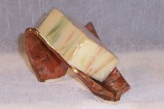 Ceramic Soap dish  Rusty Red Self Draining by ClaycrazyPottery