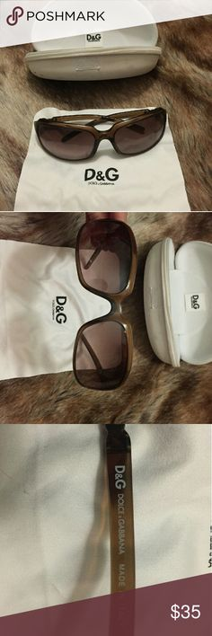 DOLCE AND GABBANA SUNGLASSES + case + cloth AUTHENTIC Designer Dolce & Gabbana women's sunglasses. Never before worn, in excellent condition. D&G cloth and case included!! Dolce & Gabbana Accessories Sunglasses