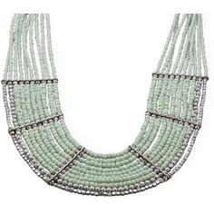 19 + 2 Multistrand Mint Green Bead Fashion Necklace