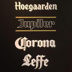 Le Grand Café, Arnhem – Bold Statements Chalkboard Custom Handlettering - Hoegaarden, Jupiler, Corona, Leffe logo's