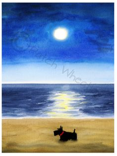 A personal favorite from my Etsy shop https://www.etsy.com/listing/261799172/scottie-dog-art-print-scottish-terrier