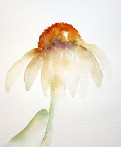 Watercolor Coneflowers with Wet-in-Wet Painting ...... simple step-by-step tutorial with pics.