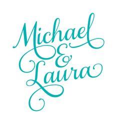 LOVE THIS FONT!     NEW - Custom Wedding Logo - Script Design - Digital File