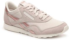 Reebok Women's Classic Nylon Slim Sneaker from DSW - $44.98  #rosegold #reebok #workout #fitness #active