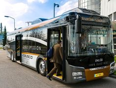 Ebusco (NL) FEV bus maakt promotietoer.