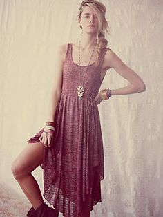 A hippie take on the maxi.  Let your inner flower child out!  That's what summer means to me...
