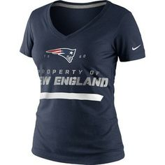 #Patriots Official New England Patriots ProShop - Ladies Nike Property of Tee-Navy