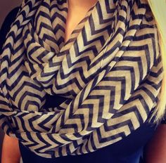 Chevron Infinity Scarves In-Stock at Hoity Toity!