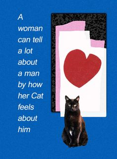 A Woman Can Tell A Lot About A Man By How Her Cat Feels About Him Cat Greeting Cards – Deborah Julian Art