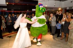 """The wedding may have been """"Black Tie Option,"""" but being a Phillies fan was a requirement."""