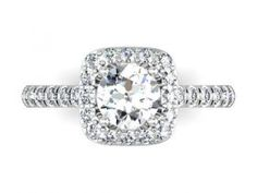 Cushion Diamond Rings in Dallas with Halo : Halo Engagement Rings in Dallas texas. Wholesale diamonds and custom diamond rings in Dalals Texas