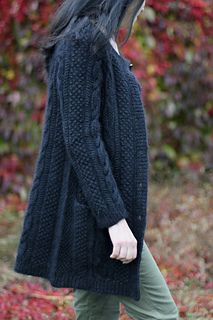 Ravelry: Picturesque pattern by Annamária Ötvös Knit Cardigan Pattern, Sweater Knitting Patterns, Coat Patterns, Knitting Designs, Knitted Coat, Knit Fashion, Ravelry, Dame, Knit Crochet