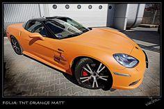 [Folia: TNT Orange Matt] Folie samochodowe - Zmiana koloru auta | Warsfoll.com.pl