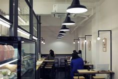 Interior space designed by FHHH Friends for South Korean dessert restaurant Milk Lab