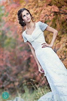 Glamorous Style – Modest Wedding Gown