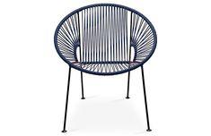 Ixtapa Lounge Chair, Navy | One Kings Lane Happy Birthday Steve, Kings Lane, Steel Frame, Playroom, Lounge, Indoor, Navy, Chair, Modern