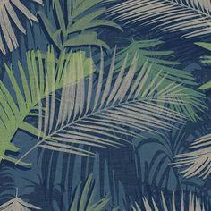 Dark Living Room Wallpaper - Graham & Brown Boutique Wallpaper Jungle Glam Blue and Green. Brown And Cream Living Room, Dark Living Rooms, Paint Colors For Living Room, Room Colors, Living Room Decor, Colours, Green Wallpaper, Wallpaper Roll, Wall Wallpaper