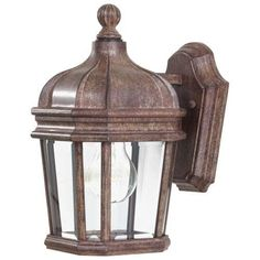 The Great Outdoors GO 8690 1 Light 11.5 Height Outdoor Wall Sconce from the Harrison Collection (vintage rust) (Aluminum)