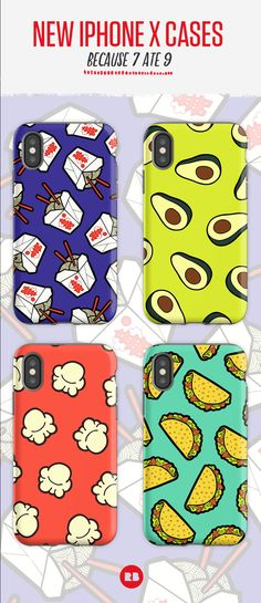 New food-themed iPhone X Cases. Because 7 ate 9. Find your thing at Redbubble.